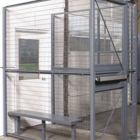 Wire Partition Holding Cells